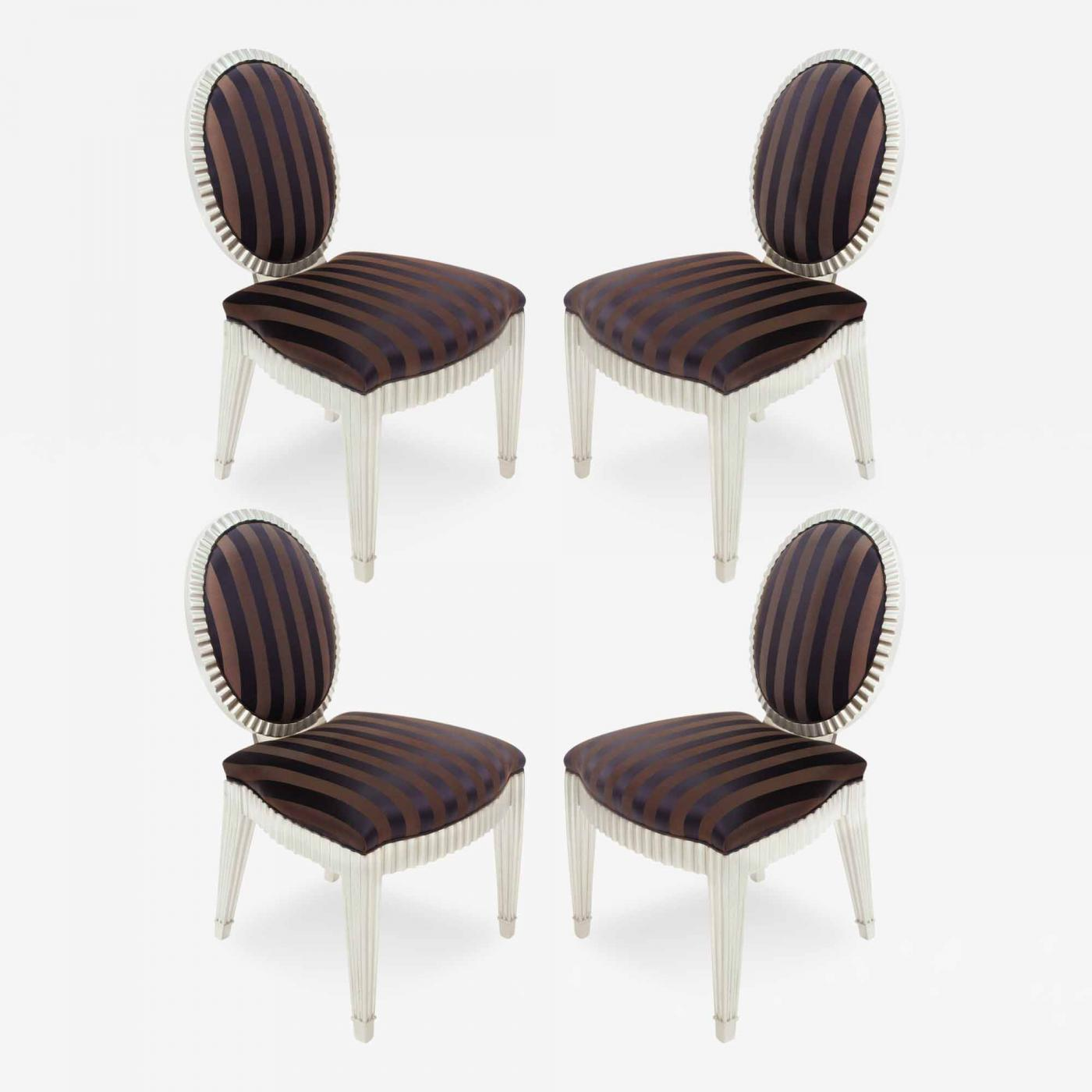 set of 4 dining chairs hickory chair sideboard john hutton game by for donghia
