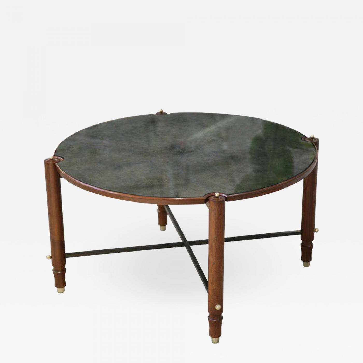 listings furniture tables coffee tables jules leleu beechwood and eglomise gueridon cocktail table