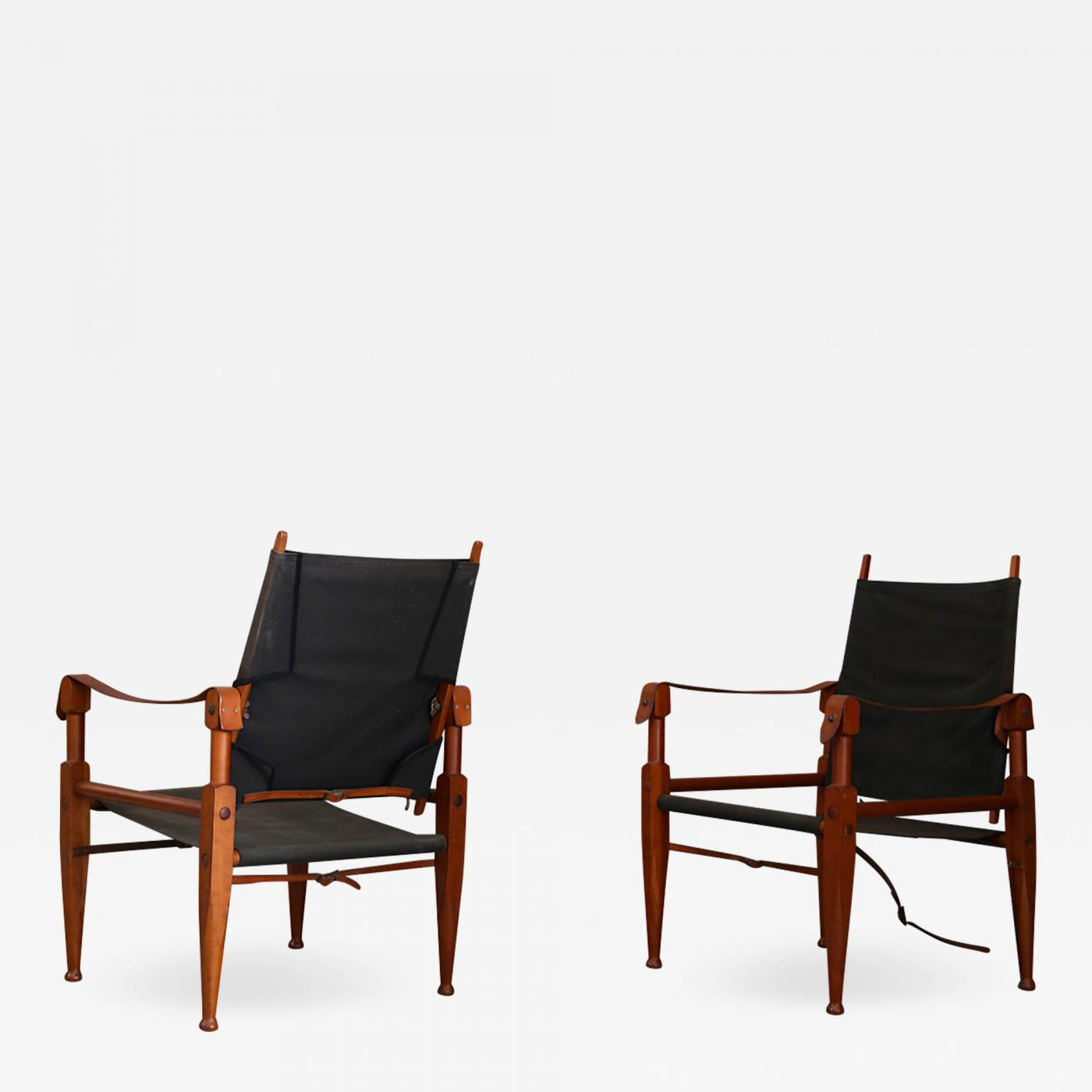 Safari Chairs Kaare Klint Pair Of Vintage Safari Chairs By Kaare Klint For Rud Rasmussen