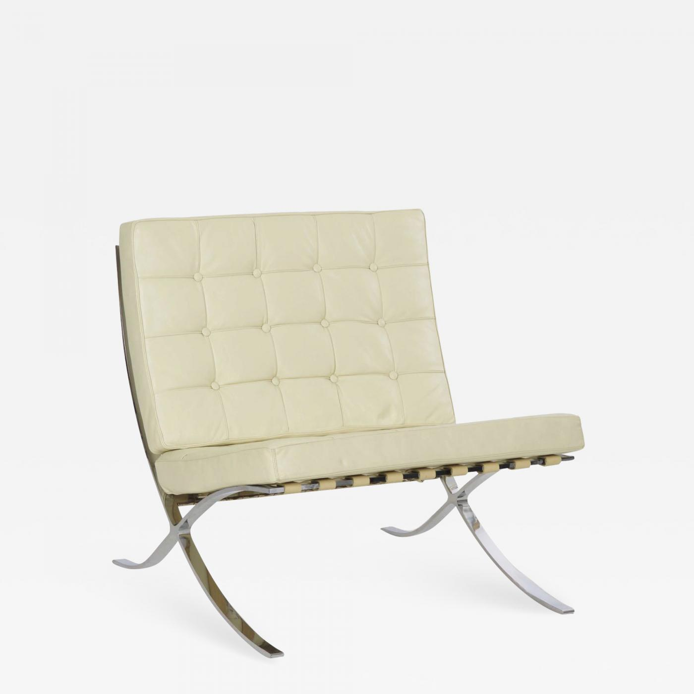 mies van der rohe barcelona chair cushions for outdoor chairs bunnings ludwig white leather after by alivar