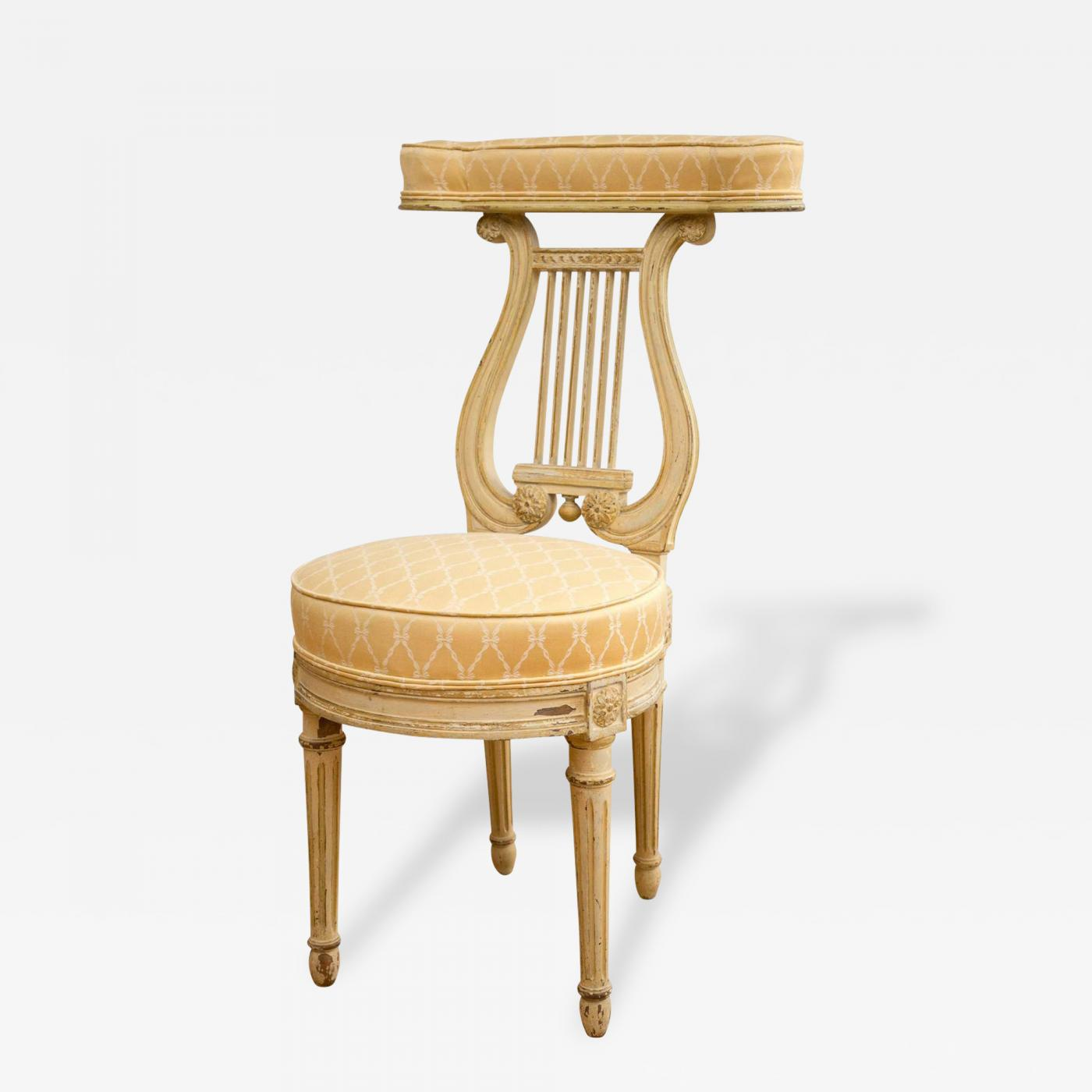 Lyre Back Chairs Lyre Back Quotvoyeuse Quot Chair In The Manner Of Georges Jacob