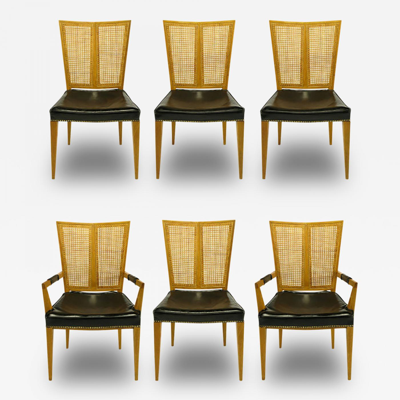 how to repair tear in leather chair covers for weddings hire michael taylor - set of six baker walnut and dining chairs