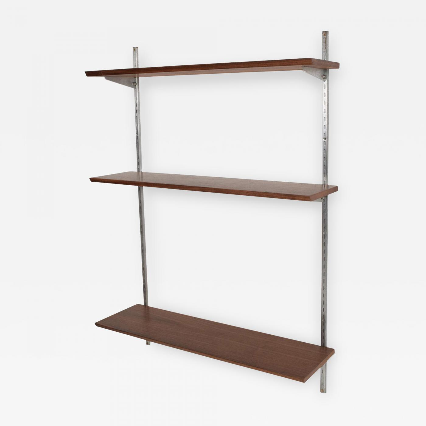 Mid Century Modern Bookcase Shelving Wall Unit Eames Era