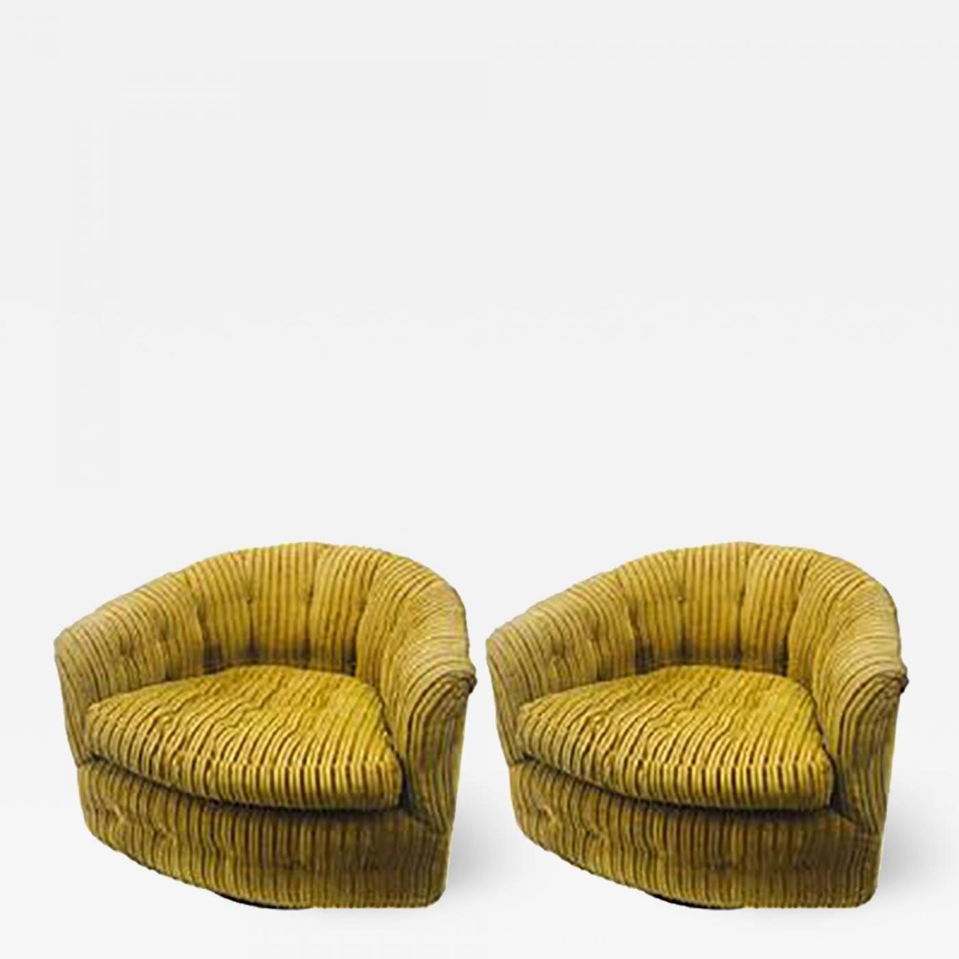 Swivel Tub Chair Milo Baughman Midcentury Pair Of Milo Baughman Swivel Barrel Back Tub Chairs