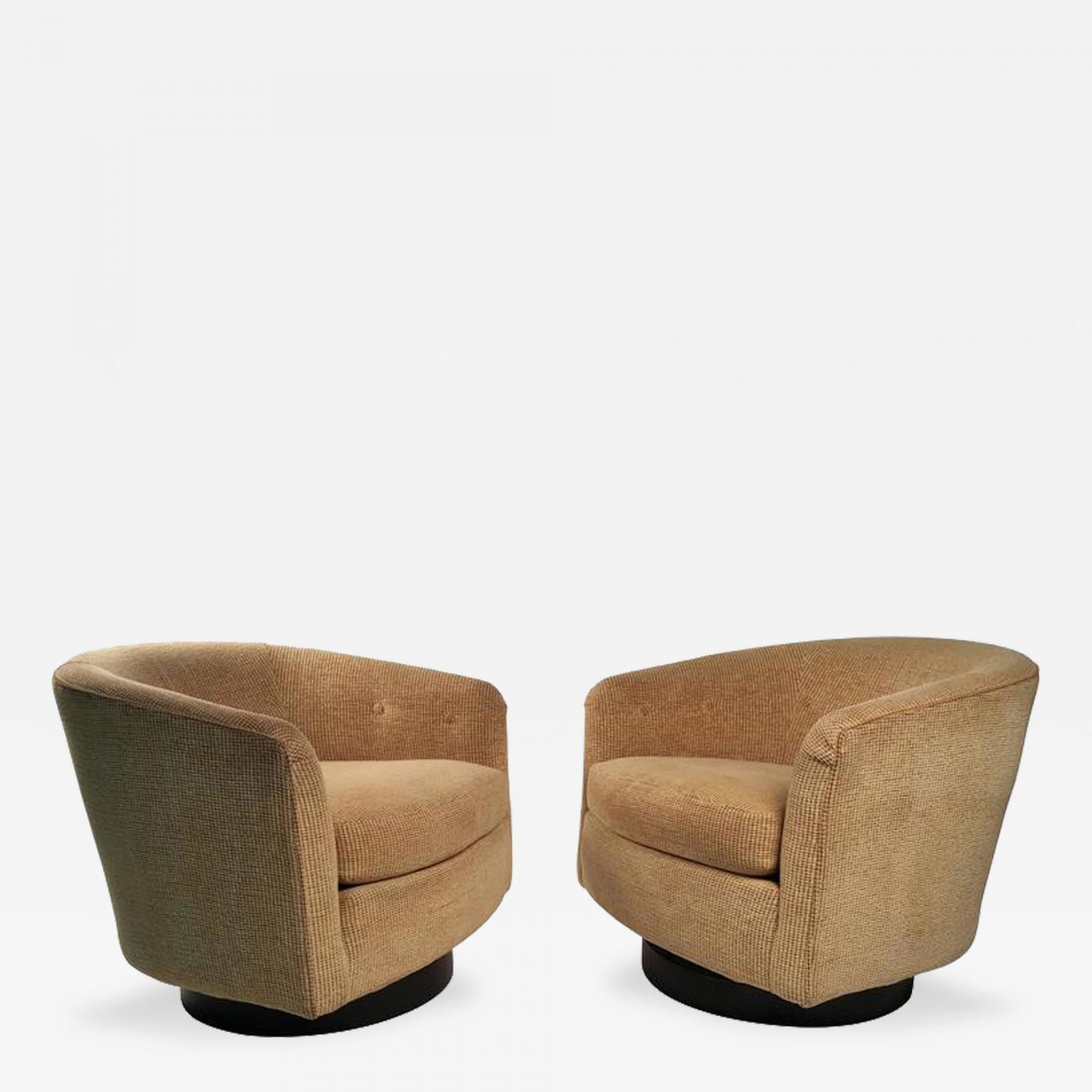 swivel lounge chairs pre owned tables and milo baughman