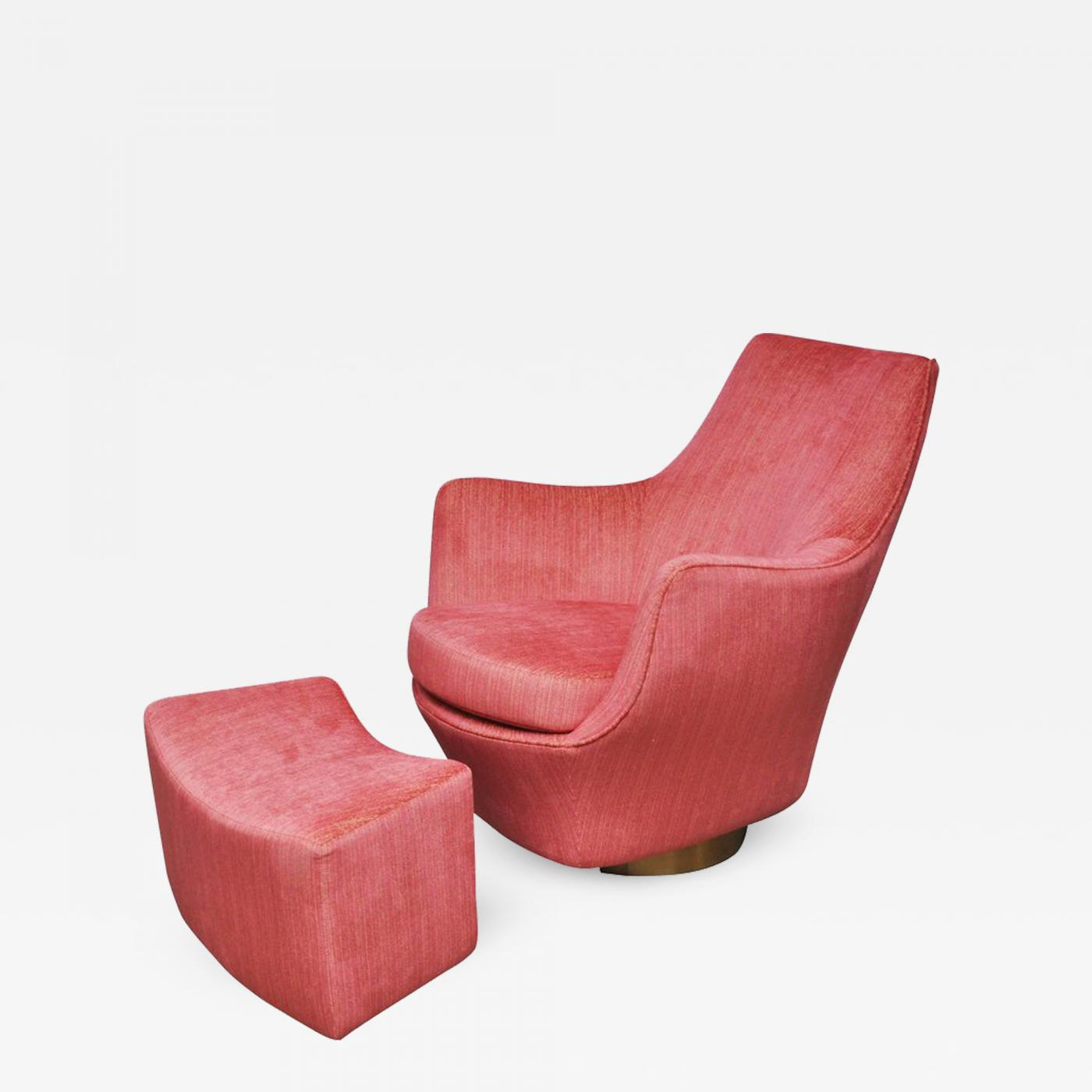 swivel pod chair beach chairs at marshalls milo baughman with ottoman on listings furniture seating ottomans