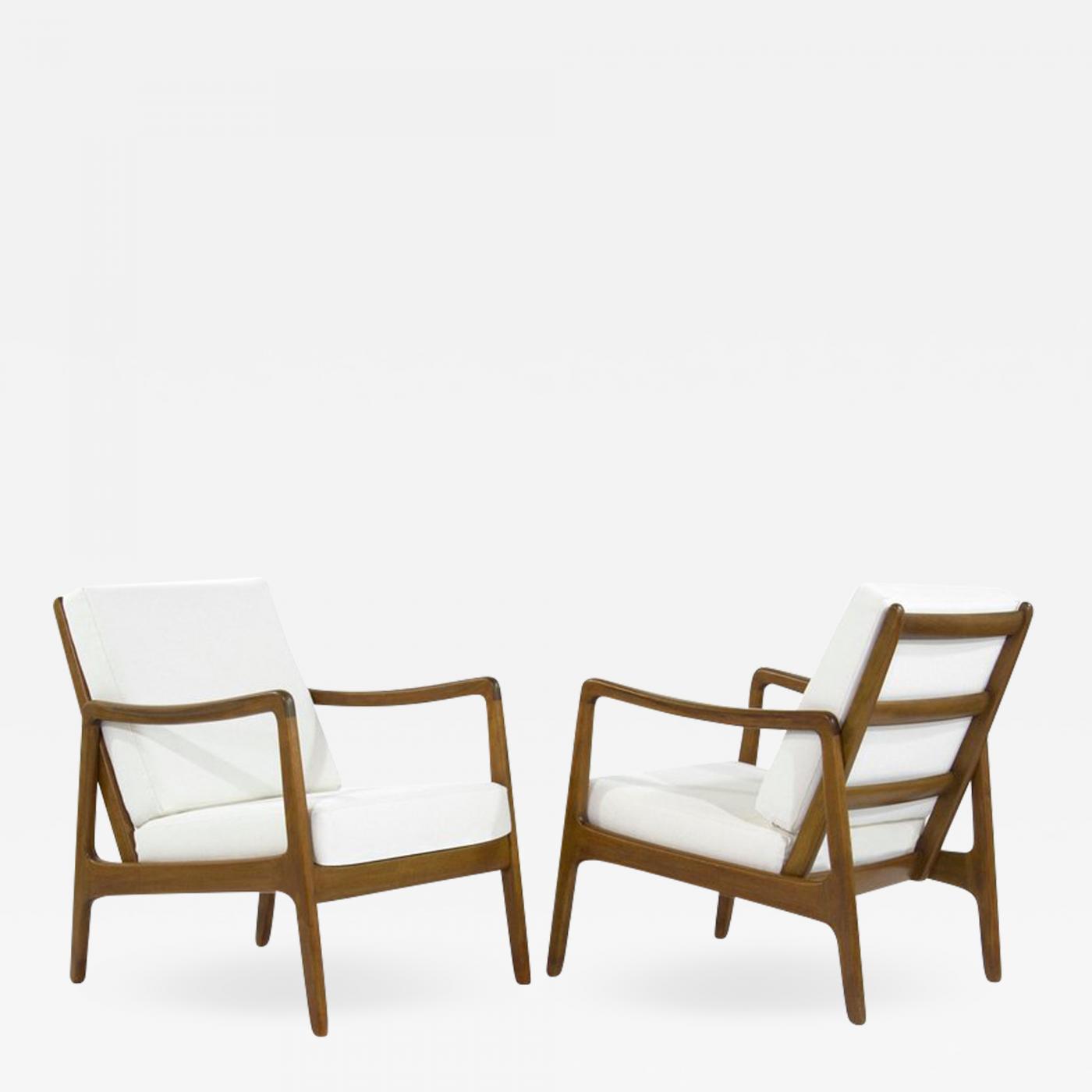 teak lounge chair yellow and gray ole wanscher scandinavian chairs model fd109 by