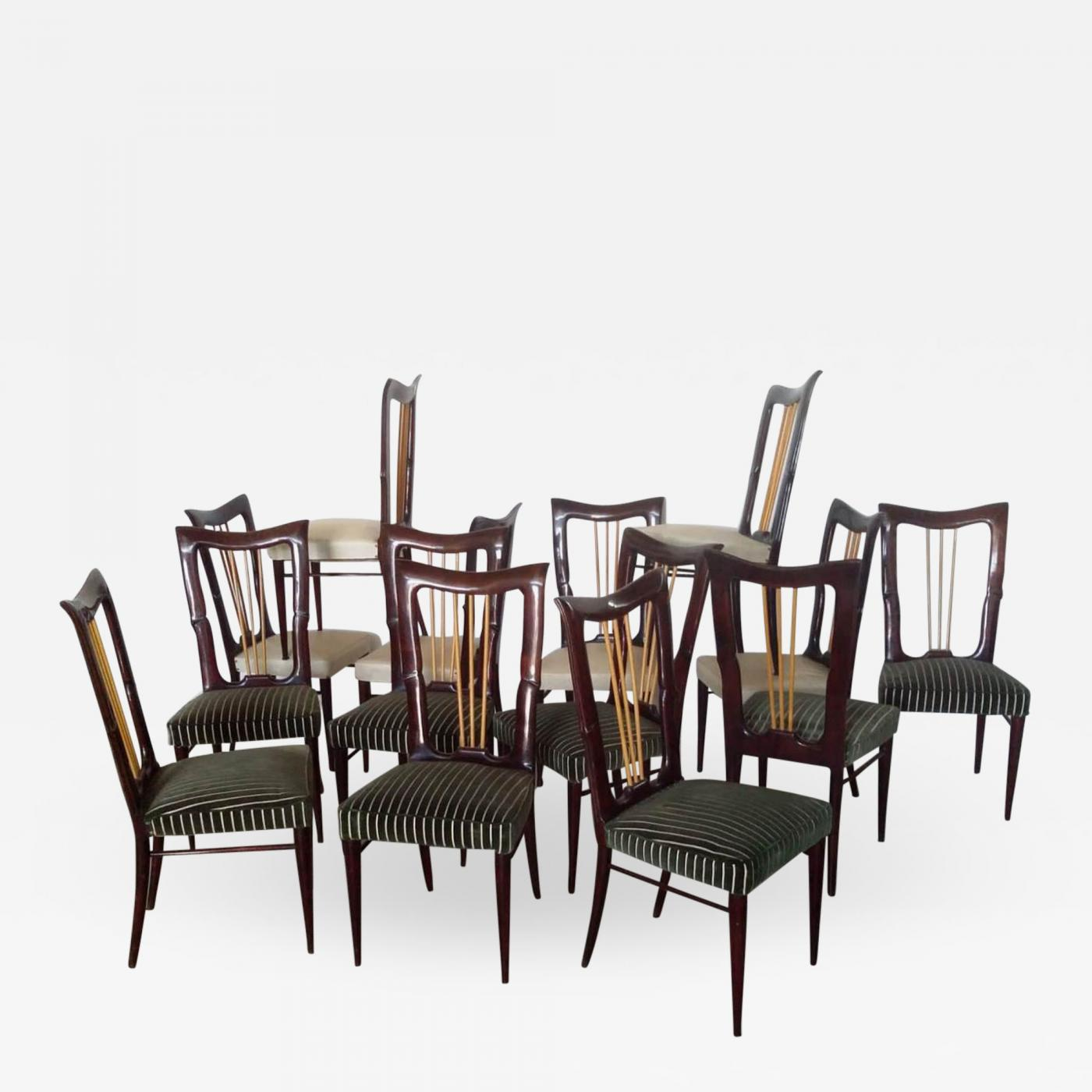 Italian Dining Chairs Osvaldo Borsani Set Of 14 Italian Dining Chairs C 1940s