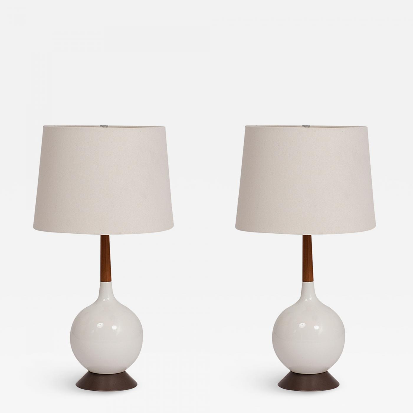 Pair Of 1960 S Mid Century Modern Ceramic Table Lamps