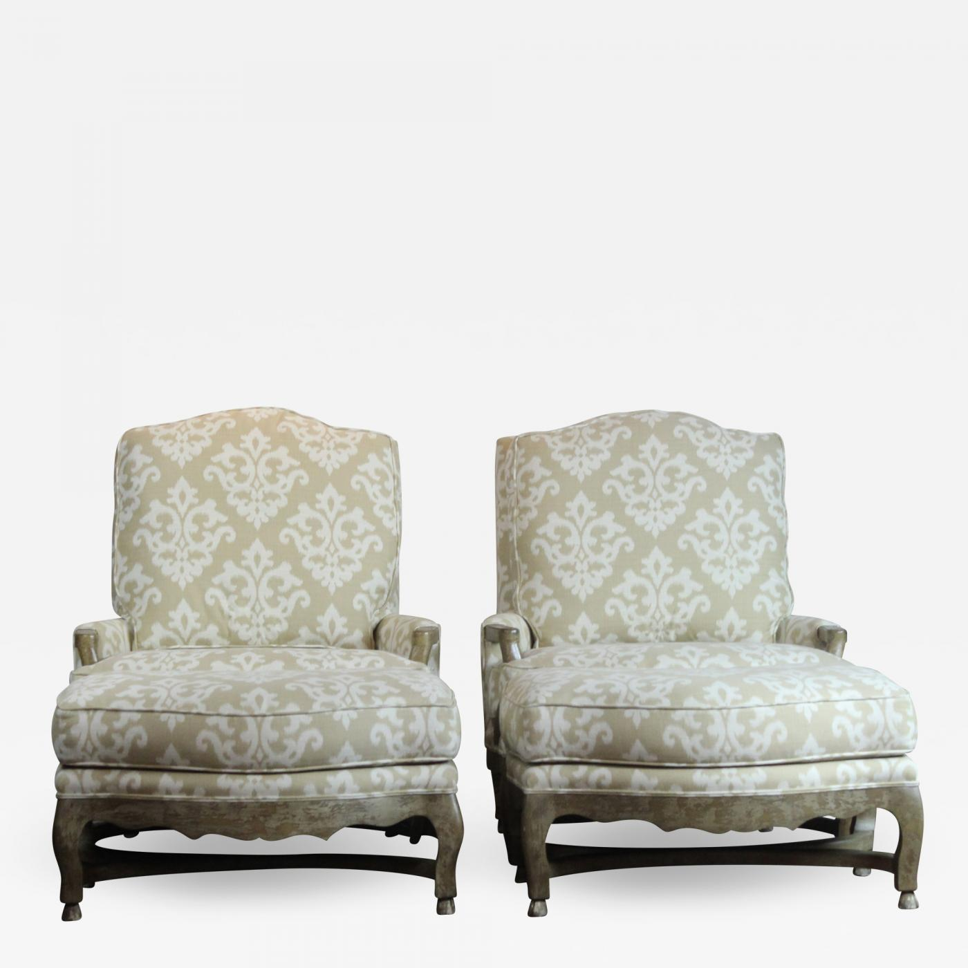 Chairs With Ottoman Pair Of Berger Chairs Ottoman