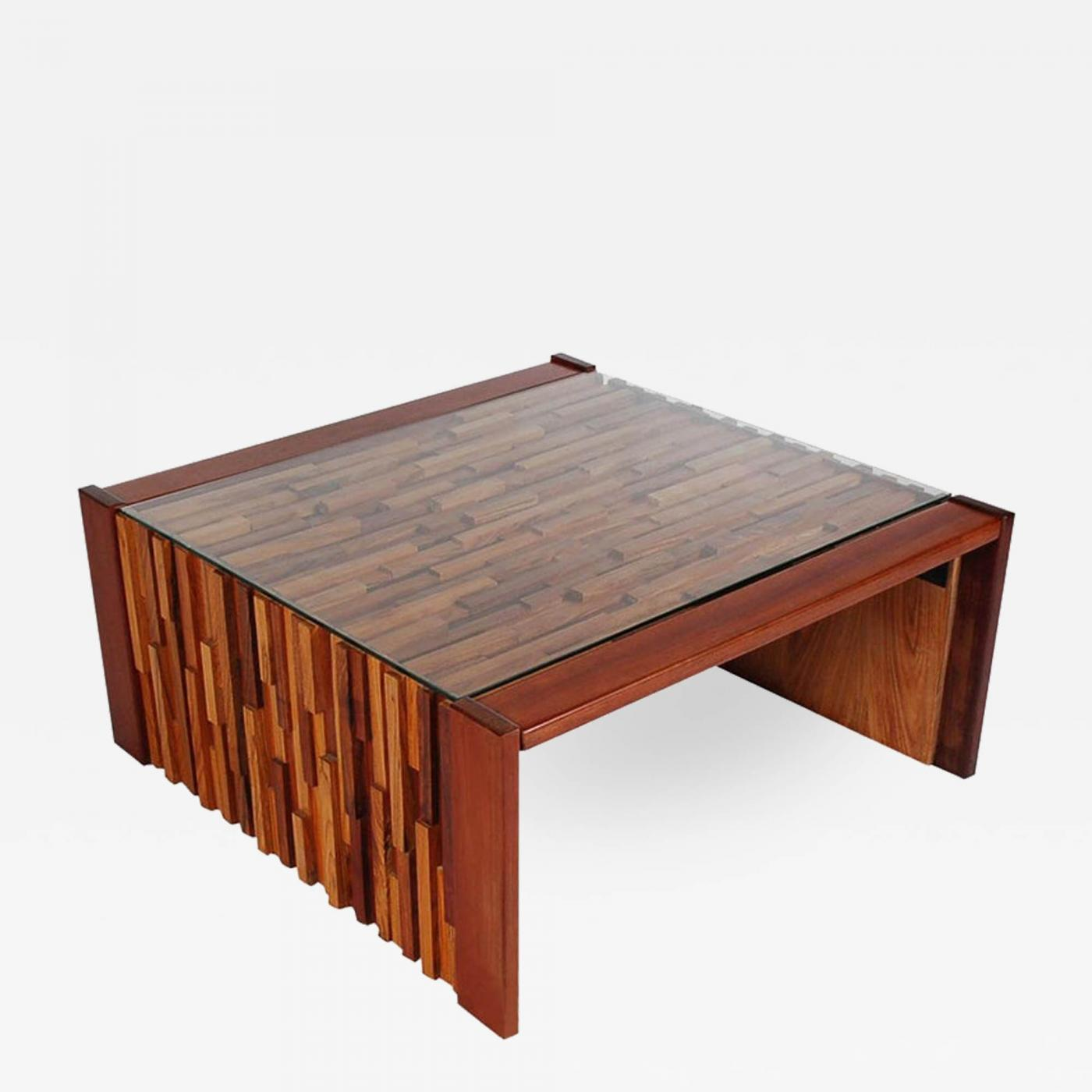 percival lafer small scale mid century modern exotic wood coffee tables by percival lafer