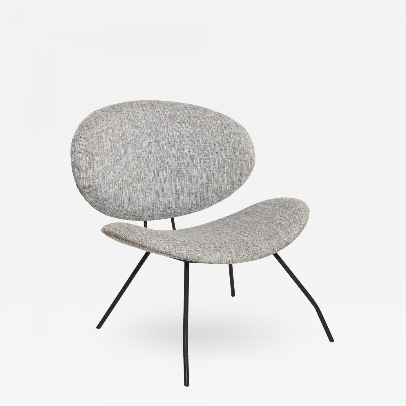 orange slice chair black white dining chairs in the style of pierre paulin pair available