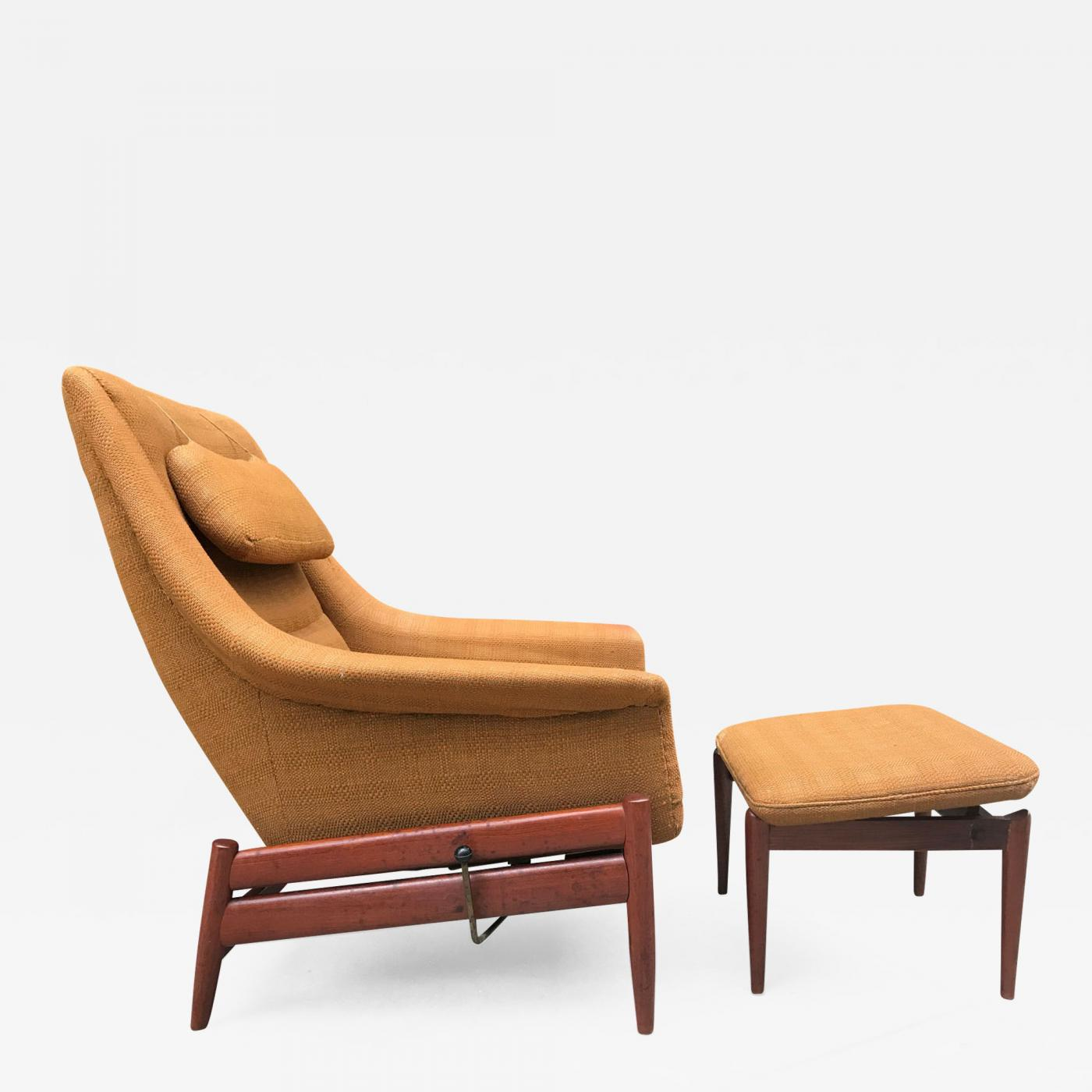 Danish Modern Lounge Chair Povl Dinesen Povl Dinesen Danish Modern Lounge Chair And Ottoman