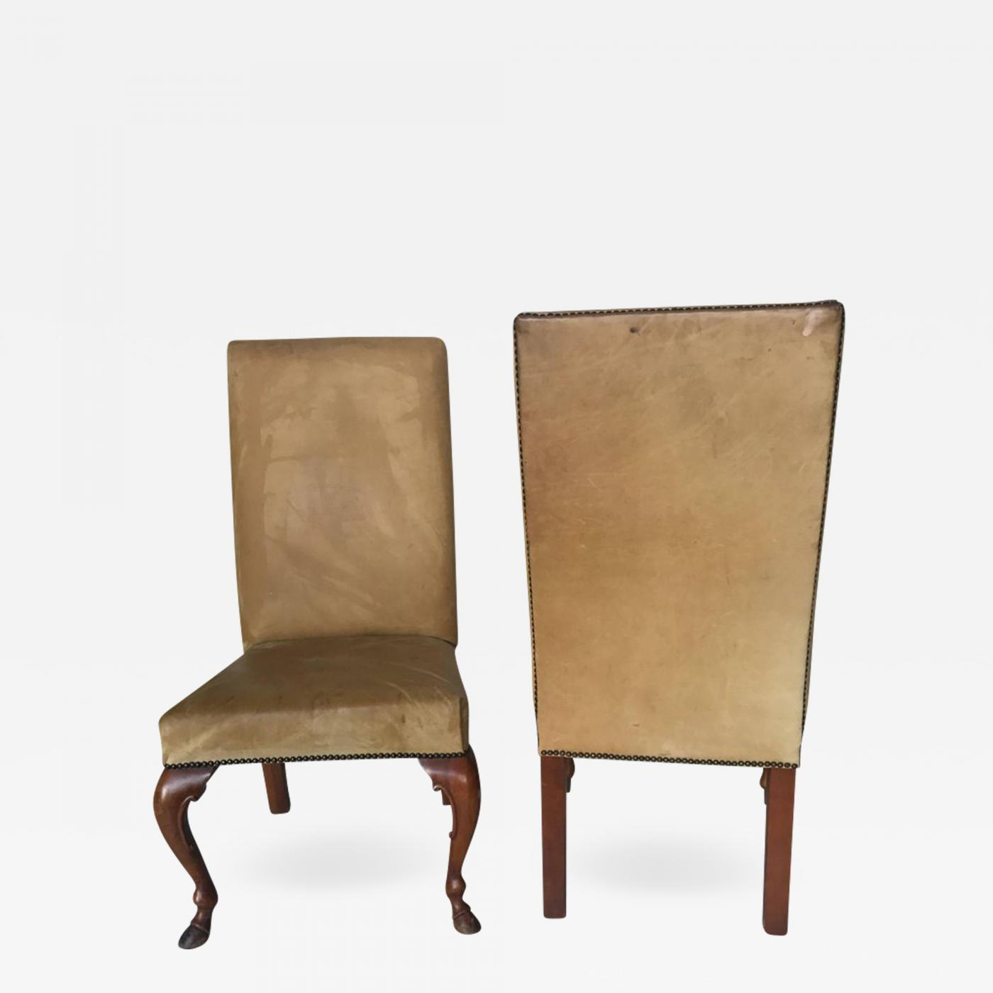 ralph lauren chair ergonomic lower back support pair of chairs in leather labelled
