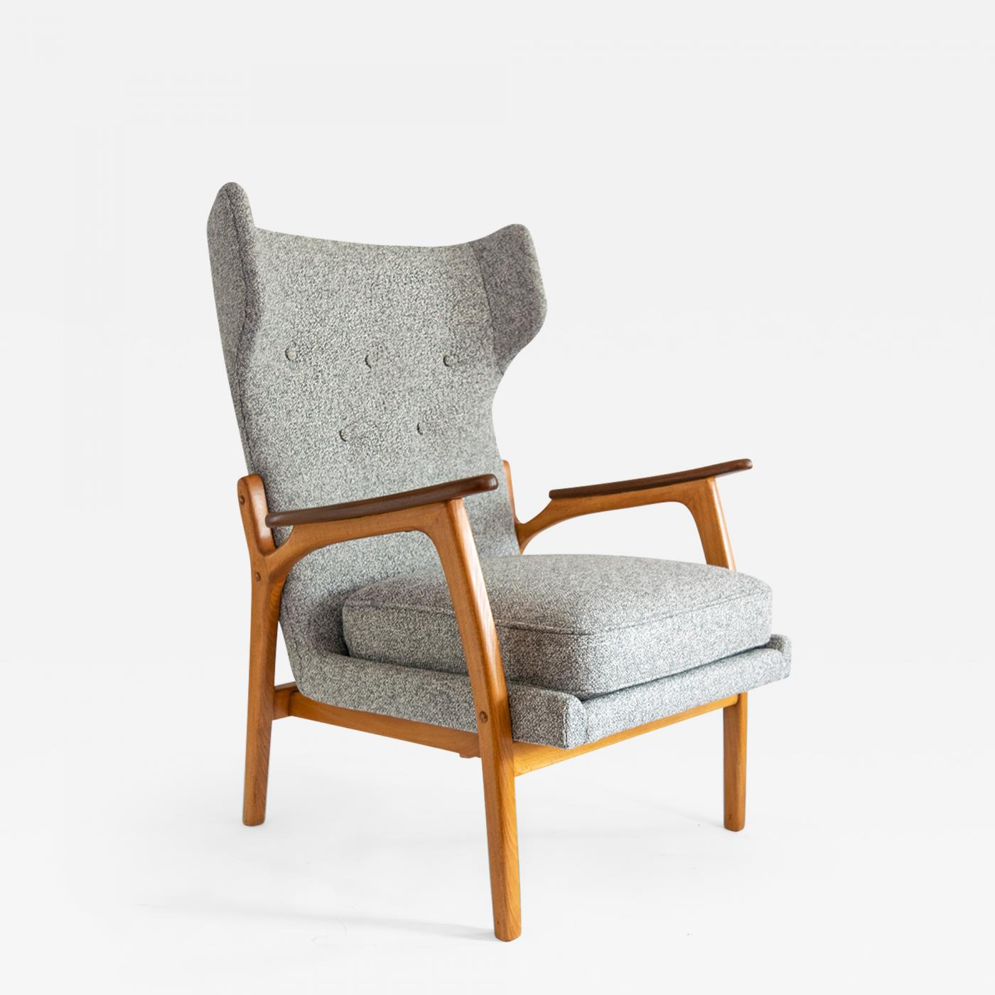 Scandinavian Chair Scandinavian Wingback Chair In Beech And Teak