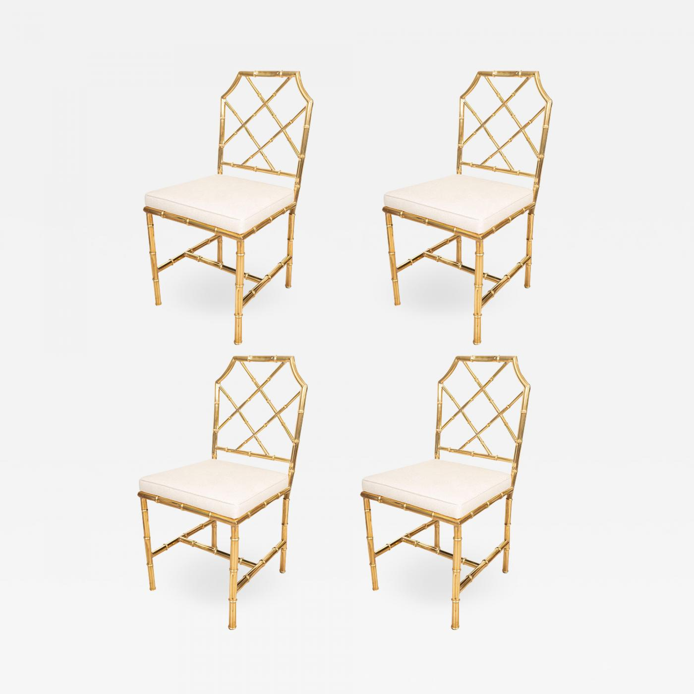 Bamboo Chairs Set Of Six Brass Faux Bamboo Chairs