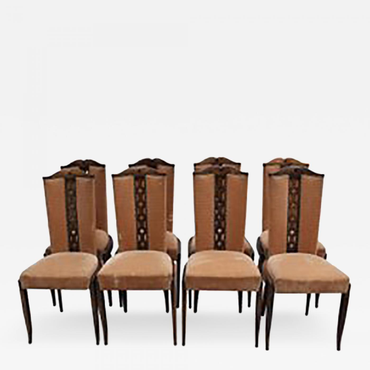 Art Deco Dining Chairs Set Of Eight Fine French Art Deco Dining Chairs