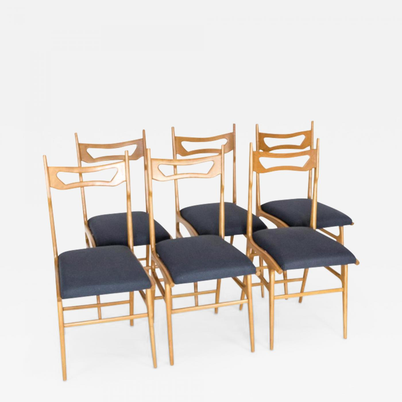 Italian Dining Chairs Set Of Six Italian Dining Chairs