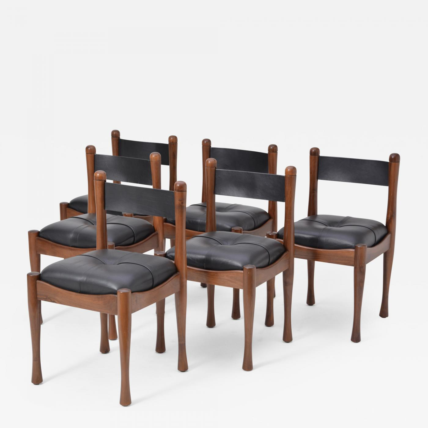 Italian Dining Chairs Silvio Coppola Set Of Six Italian Dining Chairs By Silvio Coppola For Bernini