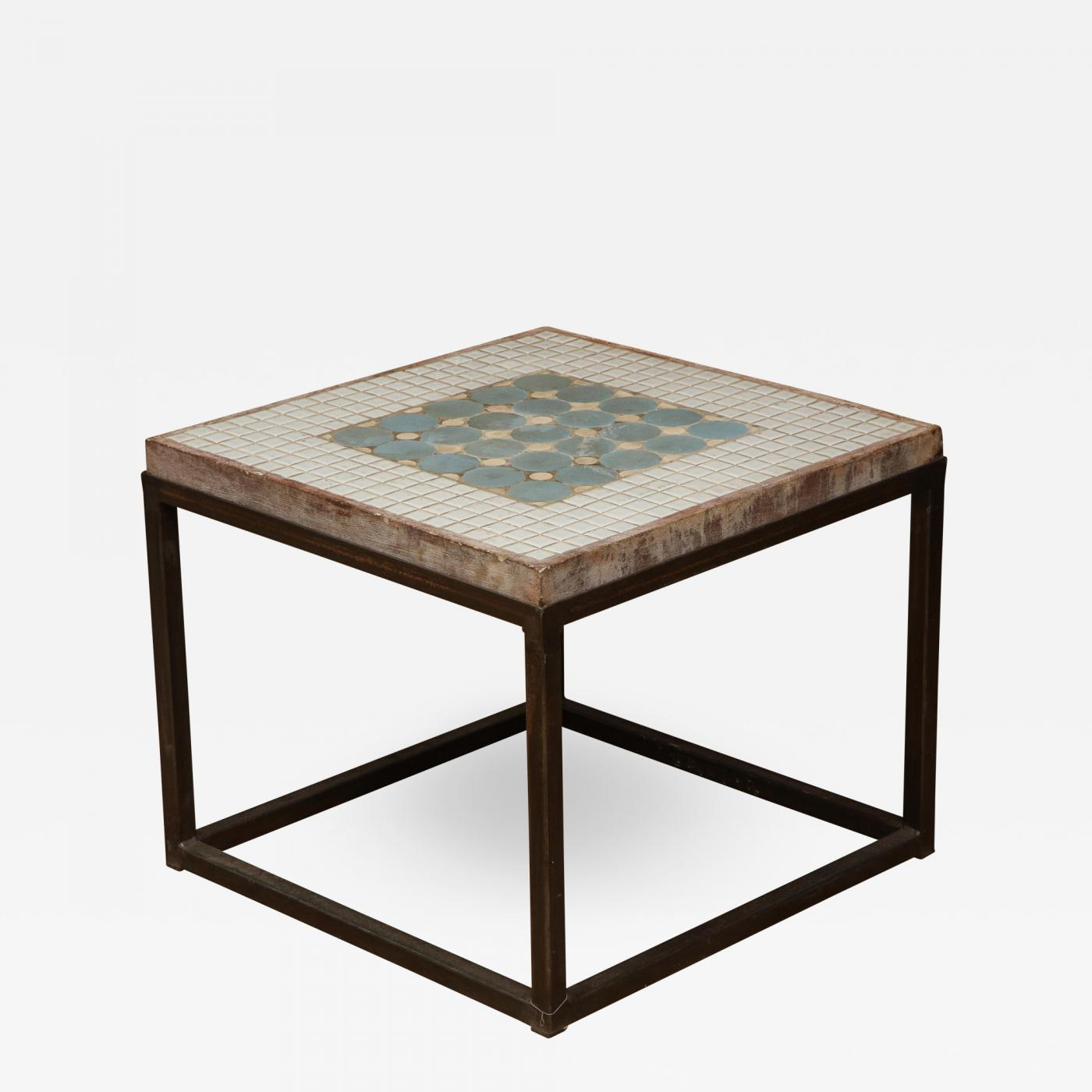 tile top side table