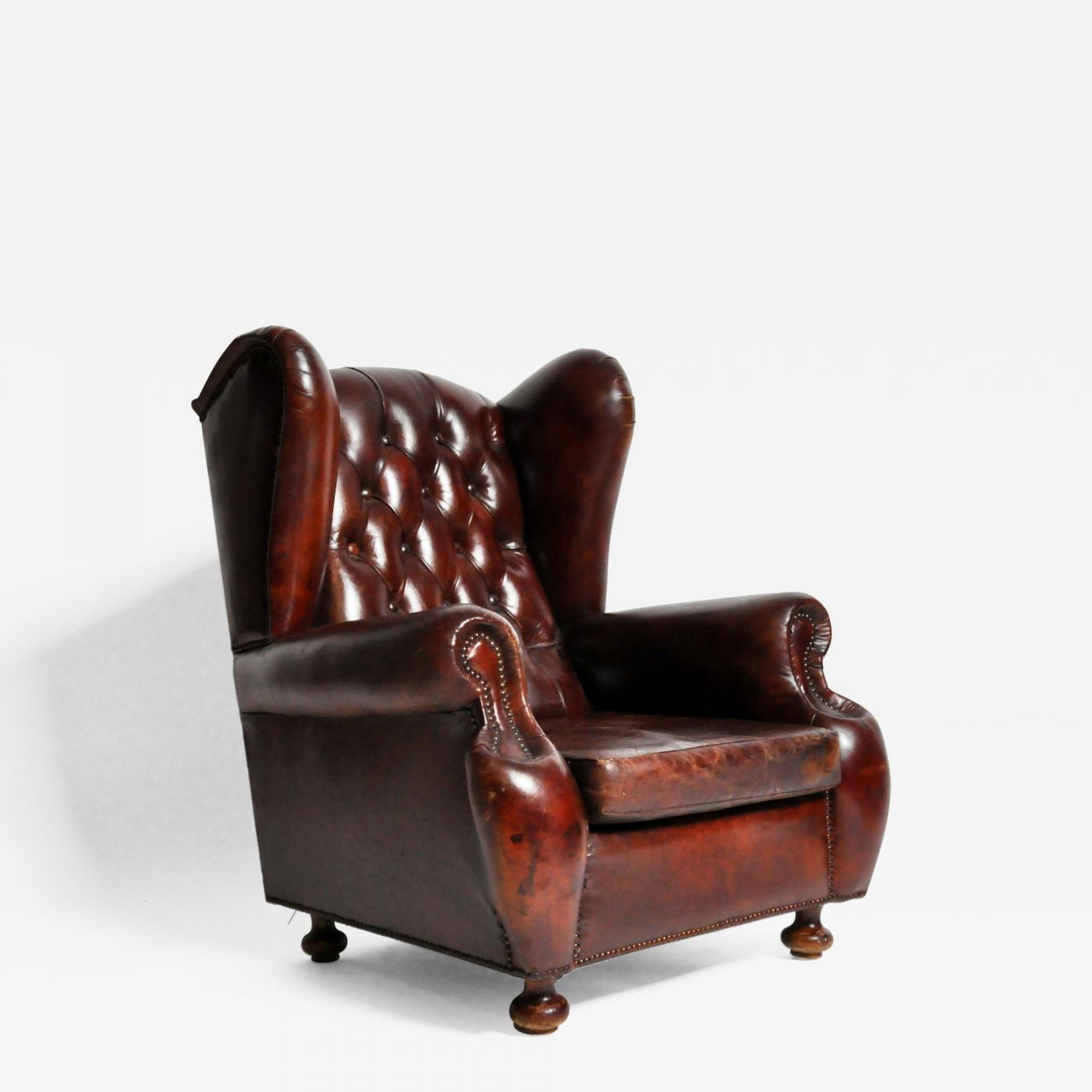 Wingback Tufted Chair Tufted Wing Back Club Chair