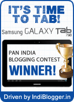 Samsung It's Time To Tab IndiBlogger contest winner!