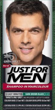 men shampoo in hair color