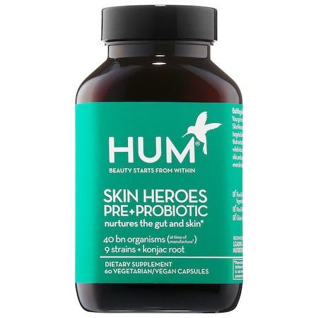 HUM Nutrition Skin Heroes Pre + Probiotic Clear Skin ...