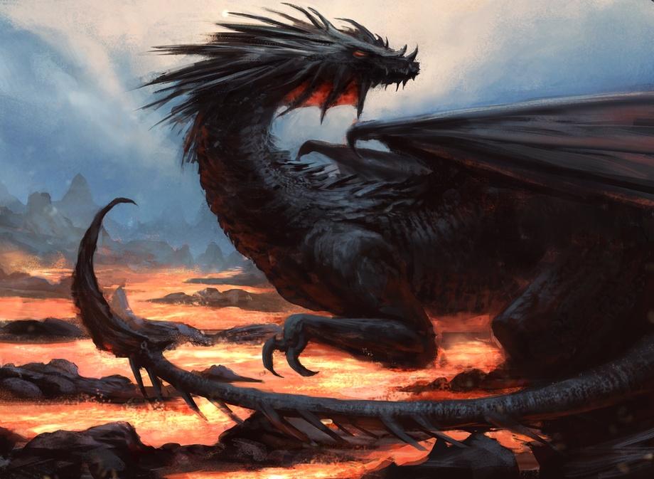 lava dragon an art