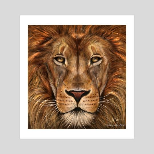 fierce lion by tosin
