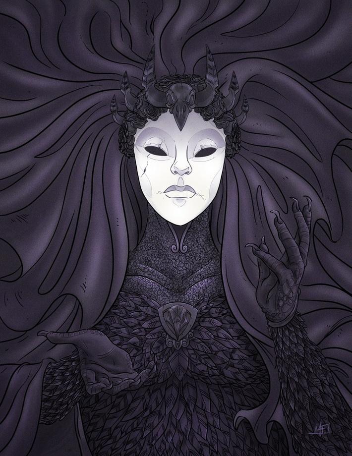 The Raven Queen : raven, queen, Raven, Queen,, Print, Mathieu, Falardeau, INPRNT