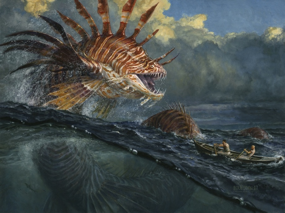 frilled sea serpent by