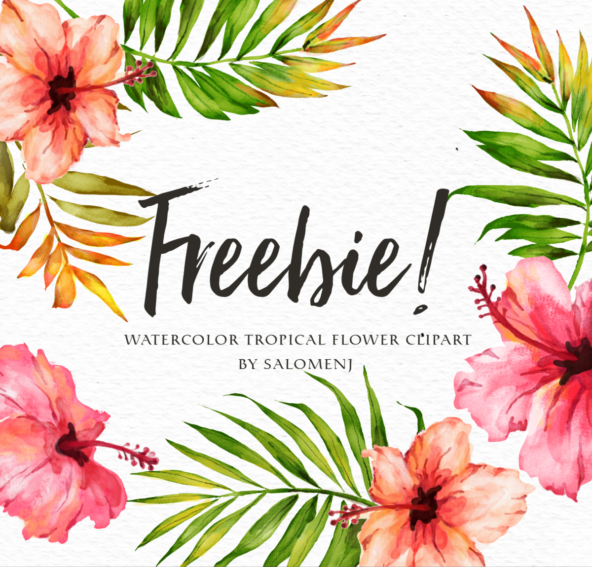 hight resolution of watercolor floral elements
