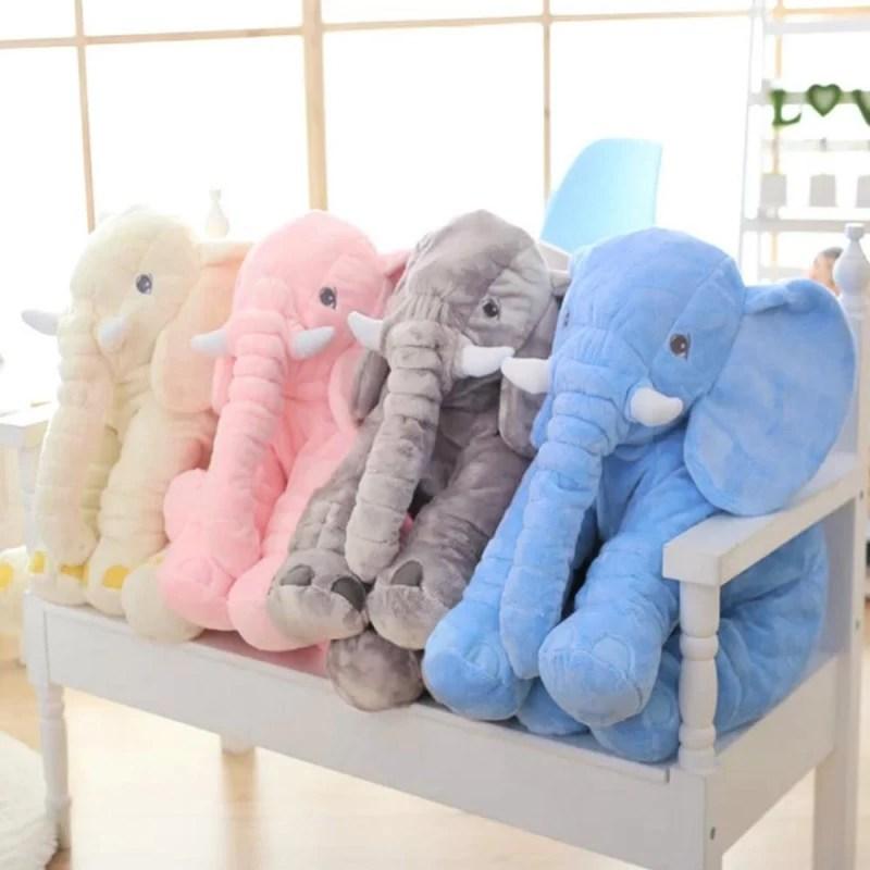 adorable elephant plush toy pillow