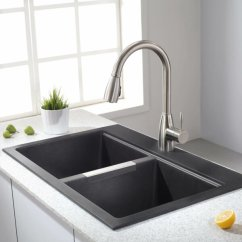 Black Kitchen Sink Green Chairs Eco Friendly Sinks Insteading Double Granite