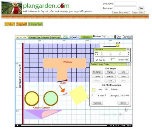 small resolution of the software is described as a program specifically for vegetable gardeners but can also accommodate strangely shaped gardens and raised beds