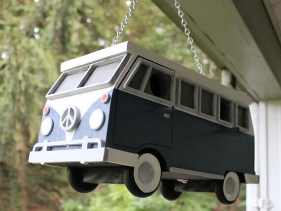 Vw bus birdhouse