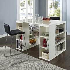 Small Kitchen Table Crosley Islands 19 Tables For Conserving Space Insteading With Storage Shelves