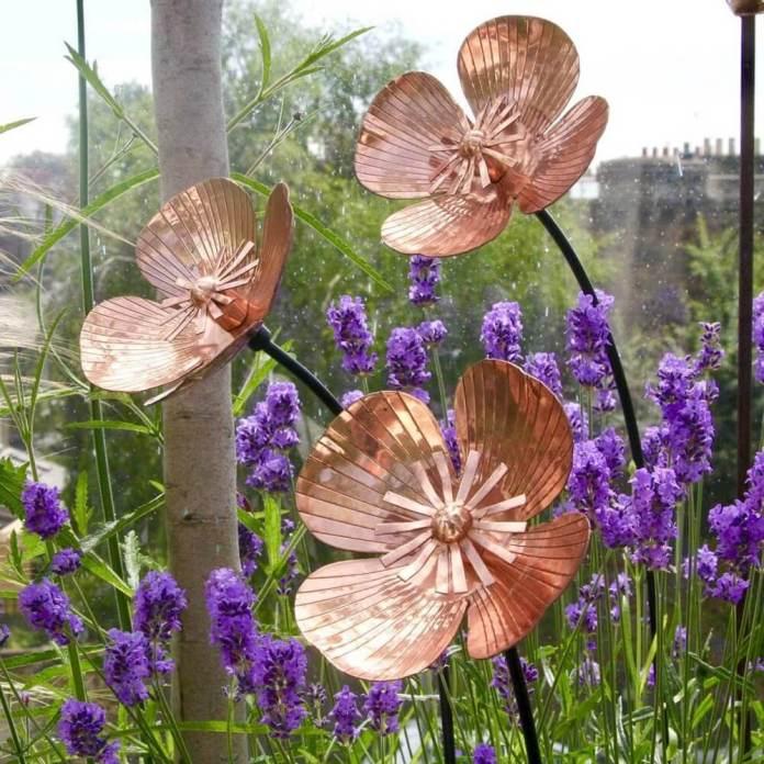 Copper garden poppies