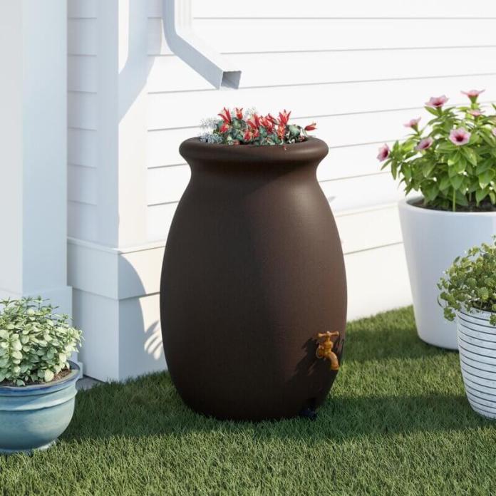 50-gallon rain barrel