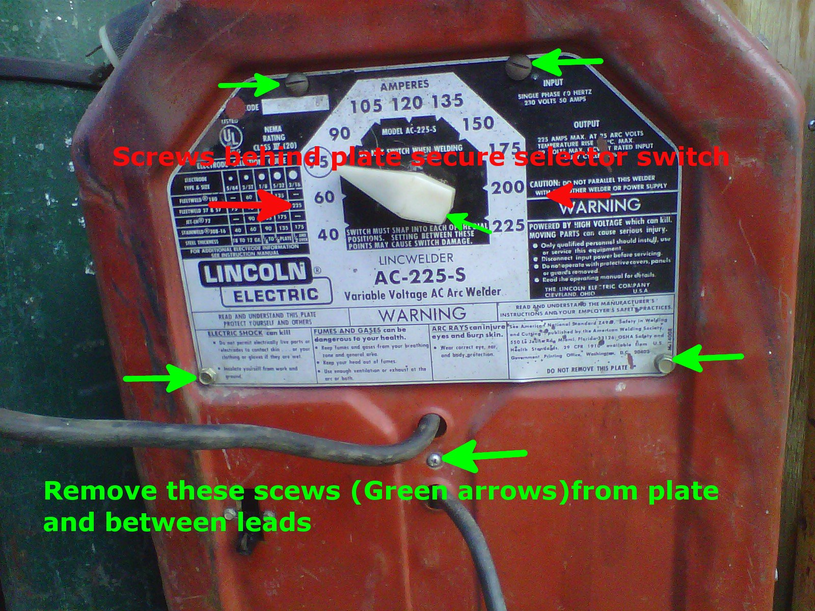 lincoln 225 arc welder wiring [ 1600 x 1200 Pixel ]