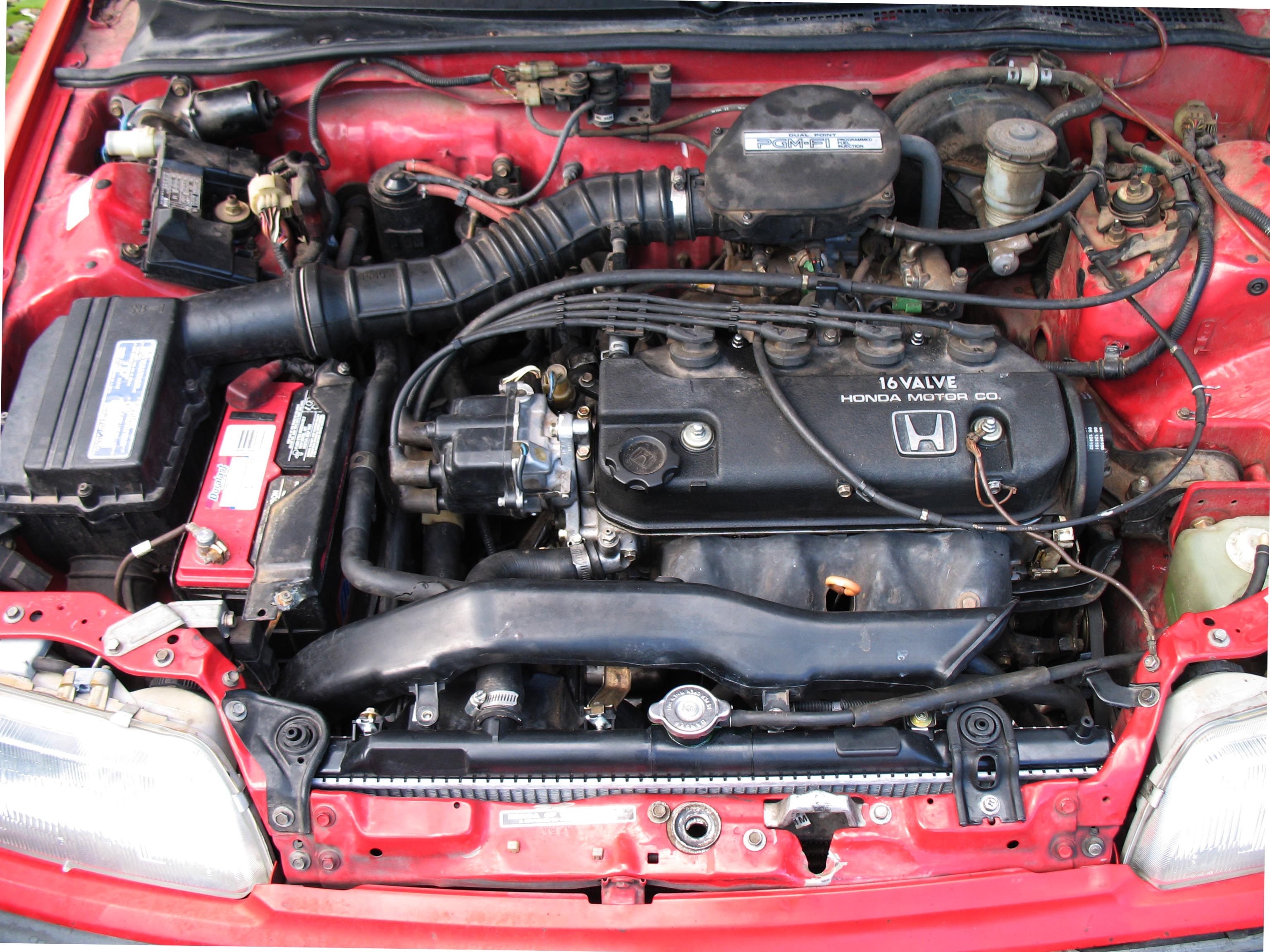 head gasket replacement on 91 honda civic 8 steps 1991 civic d16 wiring [ 3072 x 2304 Pixel ]