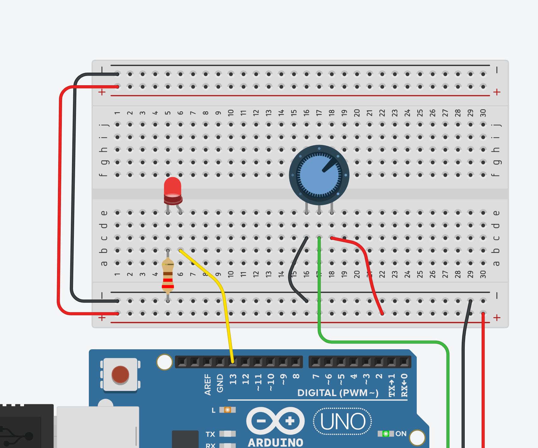 hight resolution of read a potentiometer with arduino s analog input