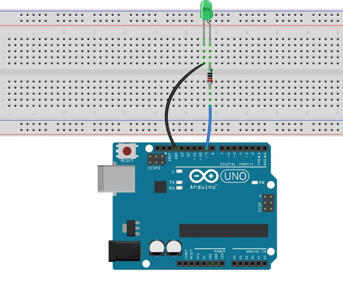 led blinking with arduino uno r3 [ 1195 x 995 Pixel ]
