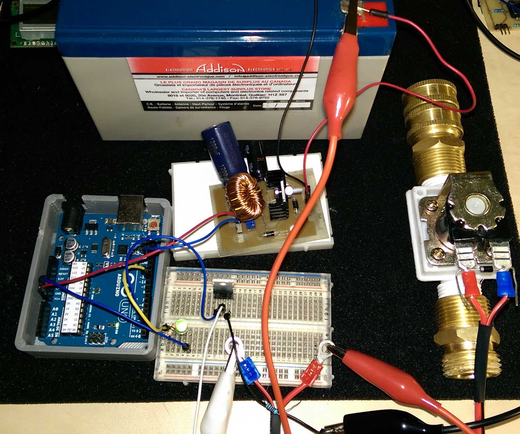 medium resolution of controling a solenoid valve with an arduino