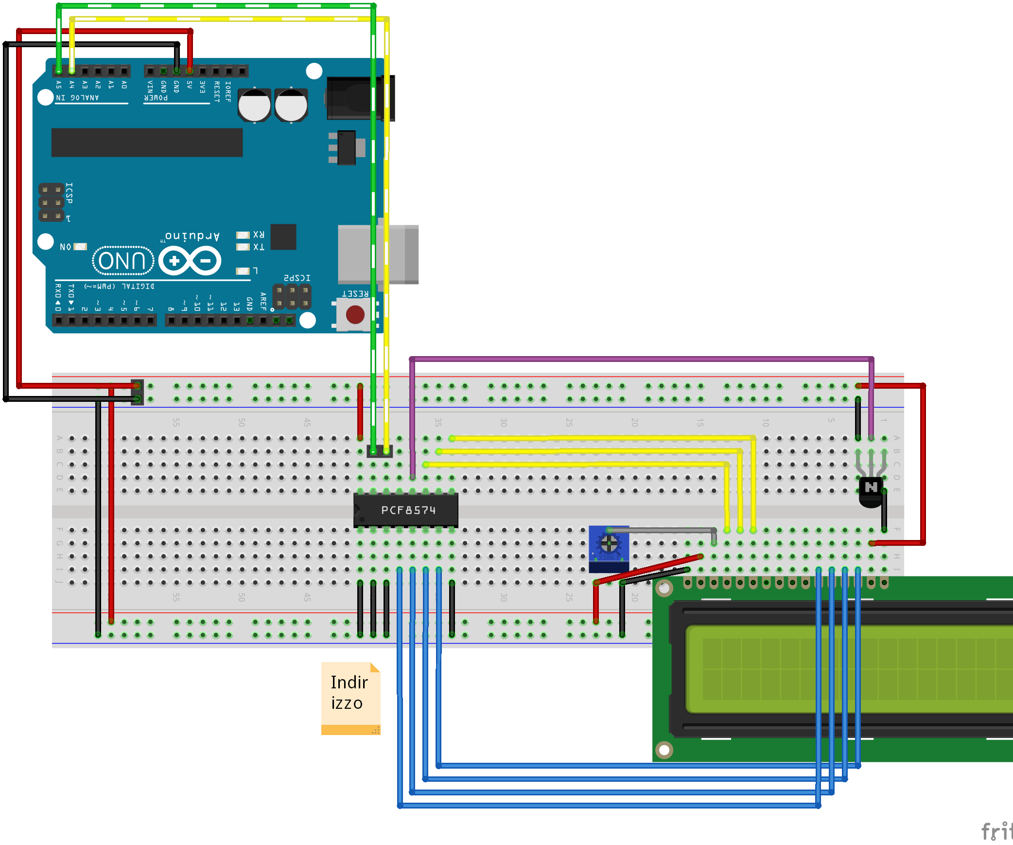 medium resolution of character lcd i2c adapter i2c connection example