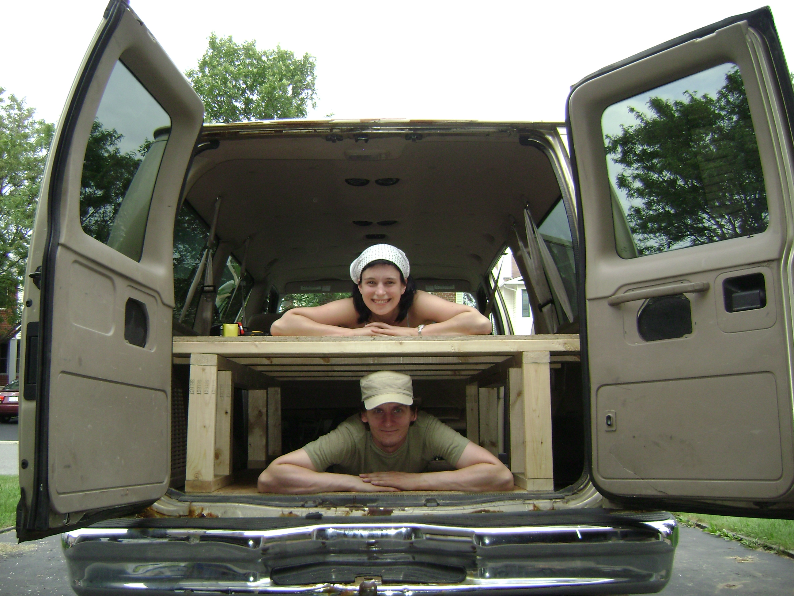 medium resolution of build a bed in the back of your van