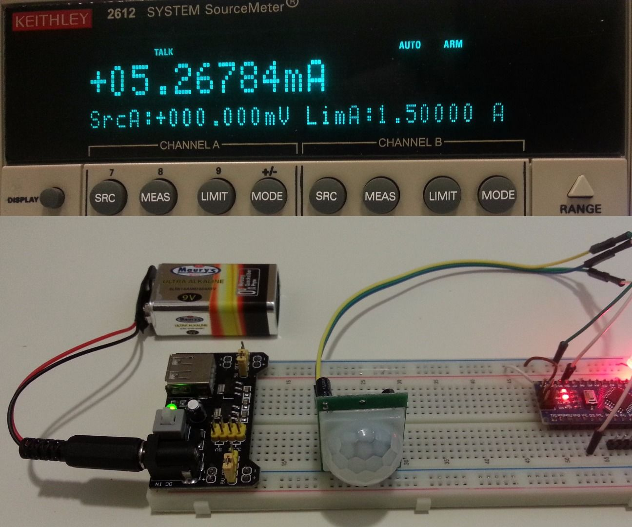 medium resolution of pir motion detector with arduino operated at lowest power consumption mode