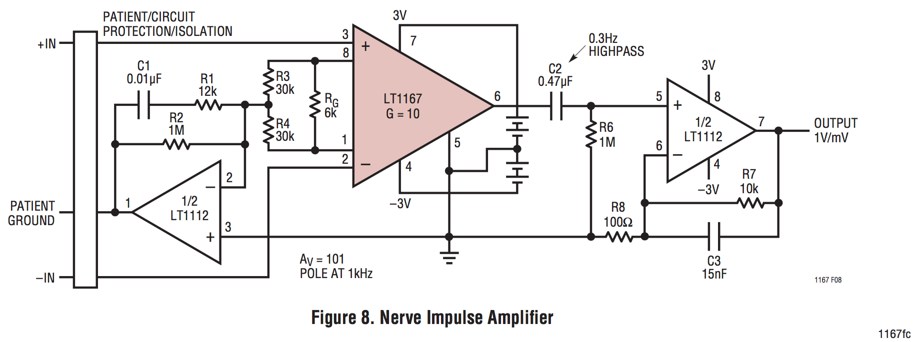 hight resolution of we ll assemble one of these nerve impulse amplifier circuits for each muscle we d like to record from which in our case is two you only need to assemble