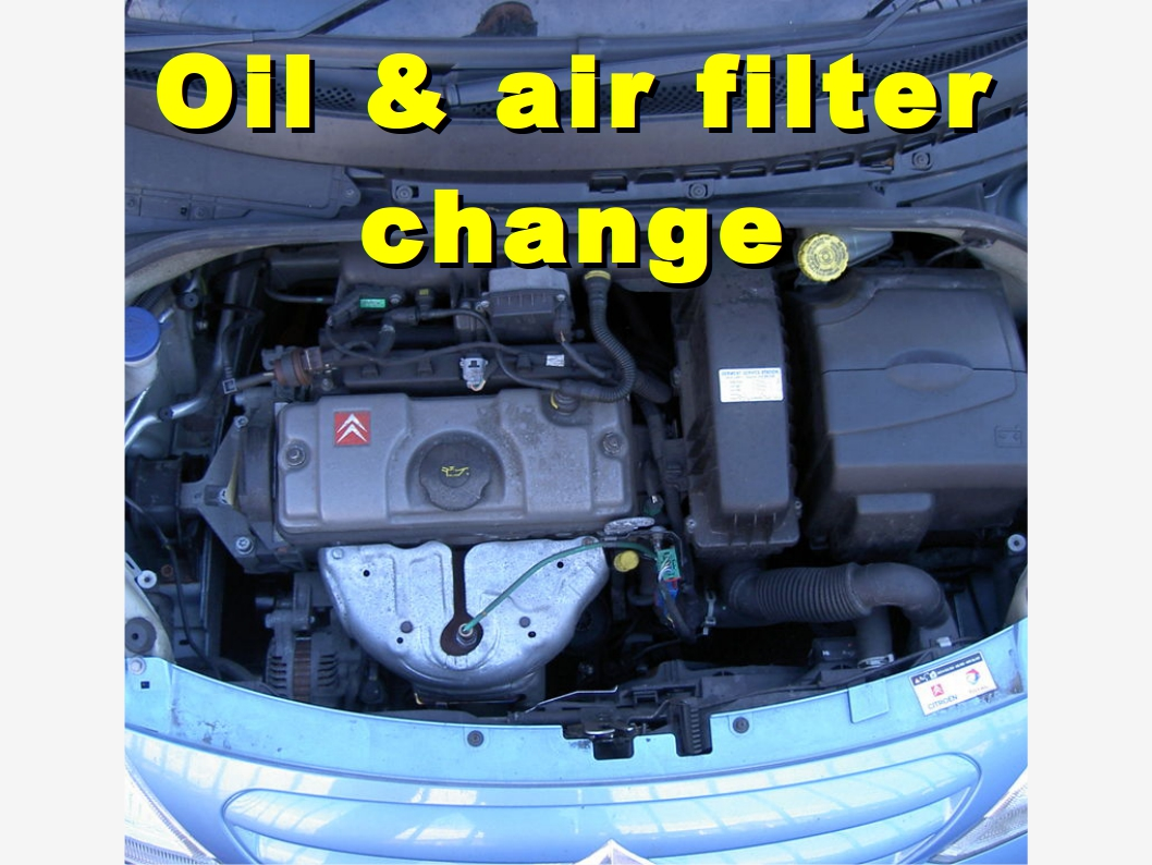 oil oil filter and air filter change on a citroen c3 2006 2008 [ 1058 x 794 Pixel ]